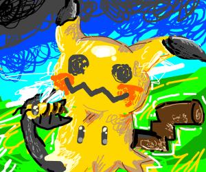 Mimikyu holds a bee