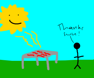 The Sun Bakes Bacon For Humans