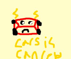 Lightning McQueen is sad