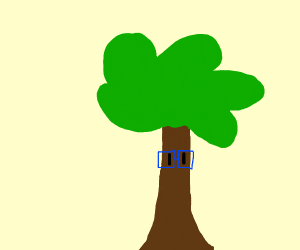 Tree man with  glasses