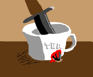 Teacup gets murdered and bleeds