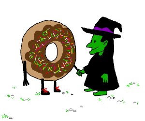 donut meets a witch