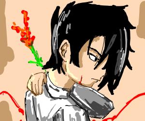 Edgy lookin anime dude