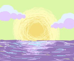 Sunset on a horizen