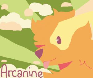 Arcanine with horns
