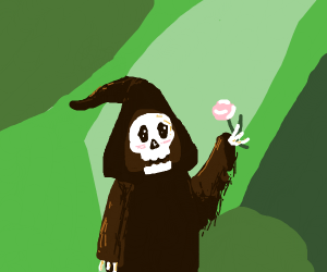 The Grimreaper enjoying nature