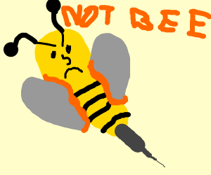 angry yellow wasp