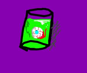 Eye in a tube of green goo
