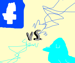 Adorable fight between facebook and twitter