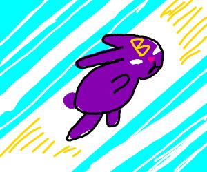 Purple bunny superhero!