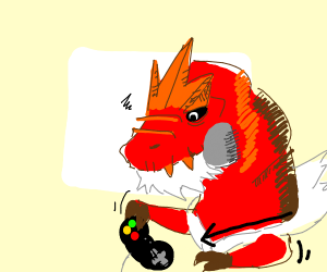 tyrantrum but he can't play video games