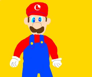 Luigi Pretending to be Mario