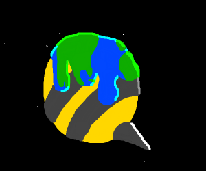 The whole world turns into a bee