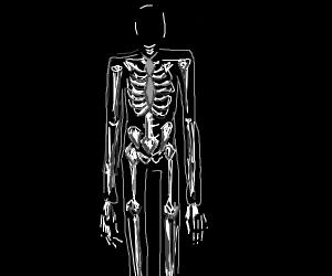 Slender Man skeleton without head