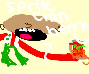 Refreshing sprite cranberry