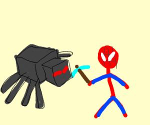 Spider-Man vs Minecraft Spide