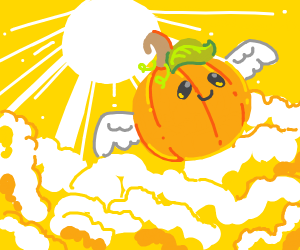 Wow, turns out cute pumpkins go to heaven