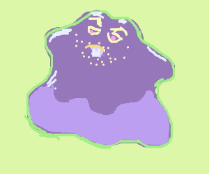 Ditto with a bucked-toothed man face