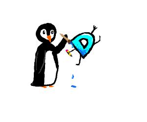 penguin drawing drawception D