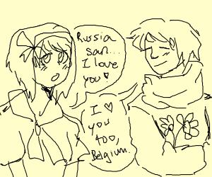 Belgium and russia in love