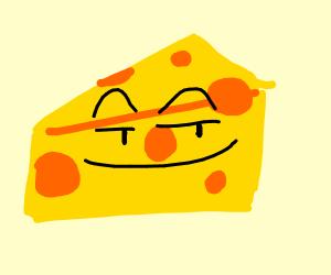 Mischievously cheesy