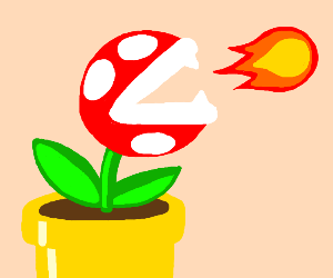 Piranha Plant Breathes fire