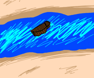 boat crossing a river