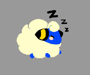 sleeping mareep