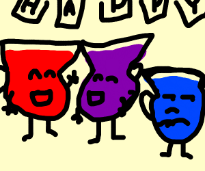3 koolaids at a party, one doesnt like it