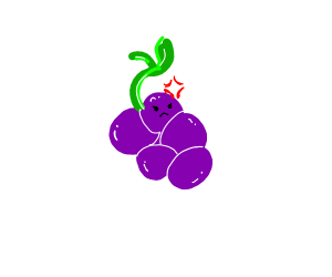 An angry grape