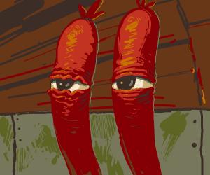 "Creepy Mr. Krabs ""ANCHOVIES"""