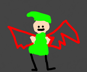 elf with demon wings