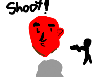 Red head has no arms or legs, shoot