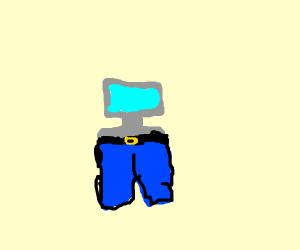 Computer wearing Pants