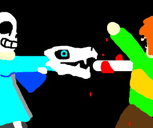 sans fights with someone