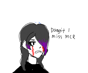 Emo crying bloody tears
