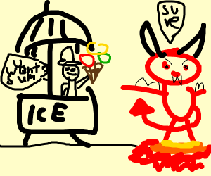 offering ice cream to the devil