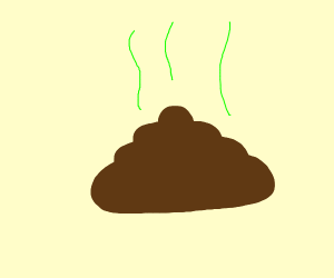 extremely simplistic poop drawing
