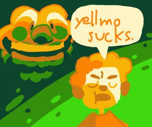 boy thinks yellmo sucks
