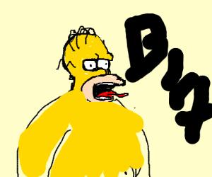 simpson yelling
