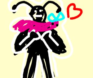 Ant carries worm gf