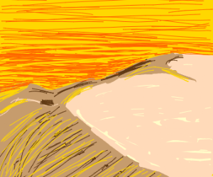 scratchy sky above dunes