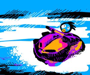 Gotta go fast on a jet ski