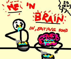 Eating with a Brain