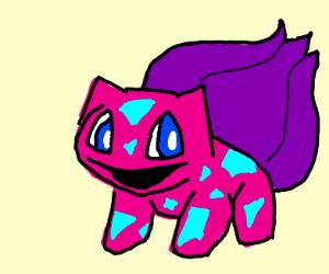 Pink bulbasaur w/ blue eyes