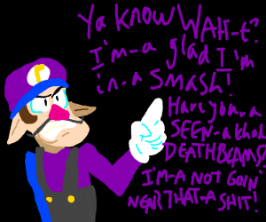 Waluigi is happy to not be in Smash Ultimate