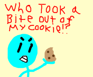Someone took a bite from my cookie!