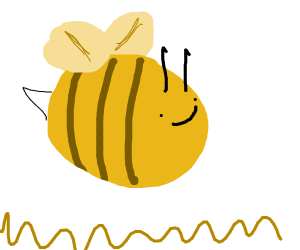 A happy bee