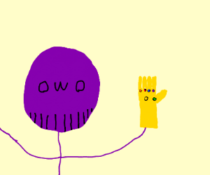 owo thanos with infinity gauntlet