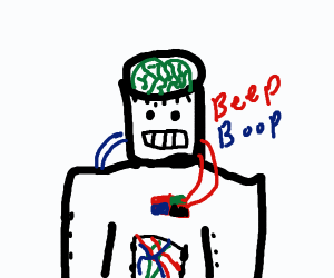 Robot with a Green Brain